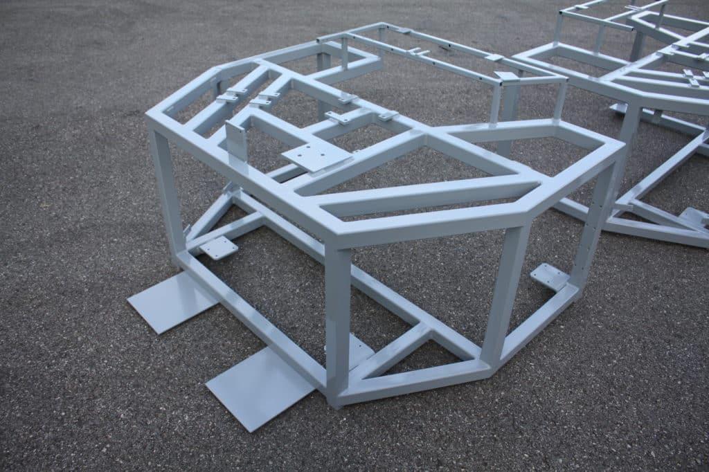 Châssis mécanosoudé acier peint